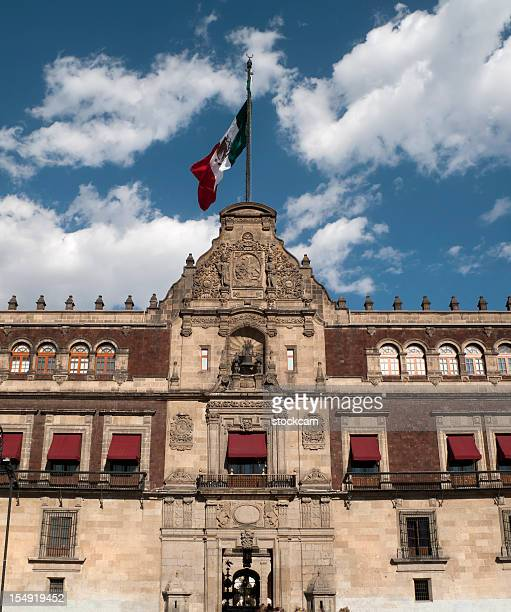 palacio nacional (national palace), mexico city - national palace mexico city stock pictures, royalty-free photos & images
