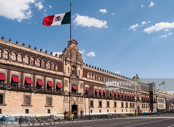 palacio nacional (national palace), mexico city - mexico city stock pictures, royalty-free photos & images