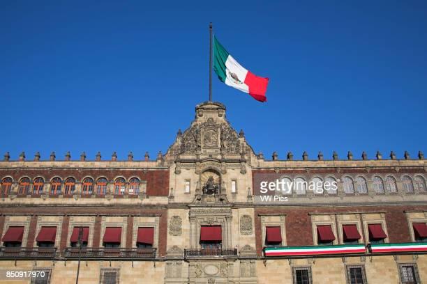 Palacio Nacional, Presidential Palace, Zocalo, Plaza de la Constitucion, Mexico City, Mexico.