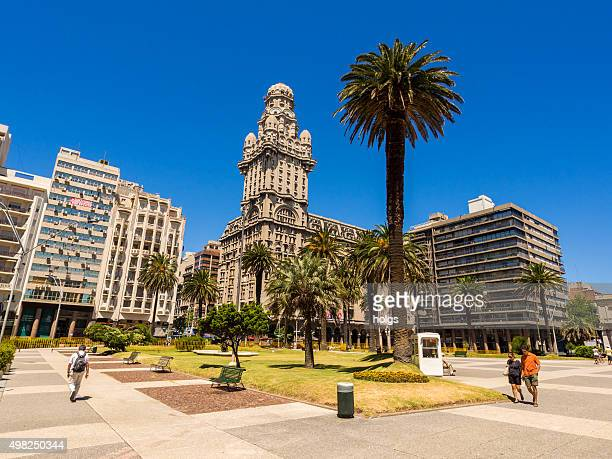 Palacio Salvo seen from Plaza Independencia in Montevideo, Uruguay
