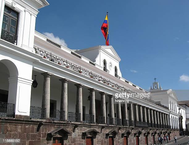 palaico de gobierno, presidential palace, quito, ecuador - president stock pictures, royalty-free photos & images