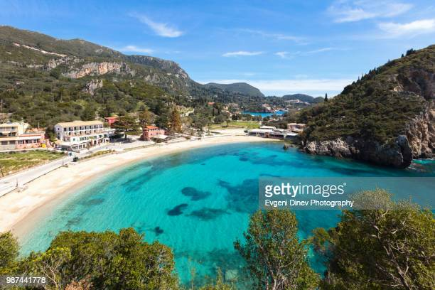 palaiokastritsa beach - corfu stock pictures, royalty-free photos & images