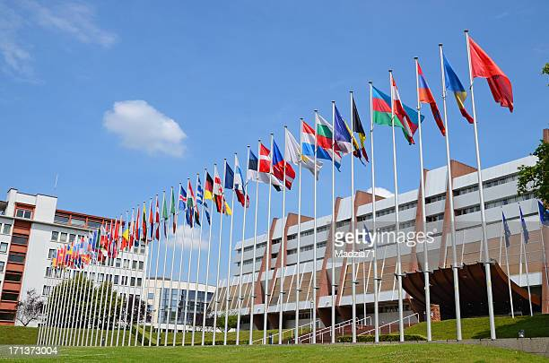 palais de l'europe in strasbourg - council of europe stock pictures, royalty-free photos & images