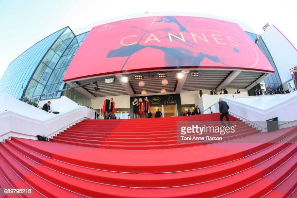 Palais des Festivals's Red Carpet at the Closing Ceremony during the 70th annual Cannes Film Festival at Palais des Festivals on May 28 2017 in...