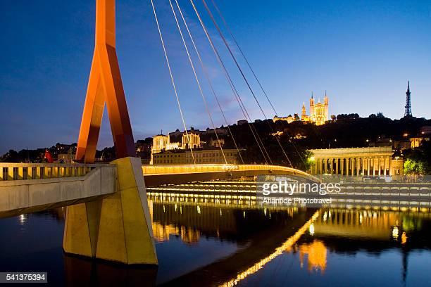 Palais du Justice Footbridge Spanning the Saone
