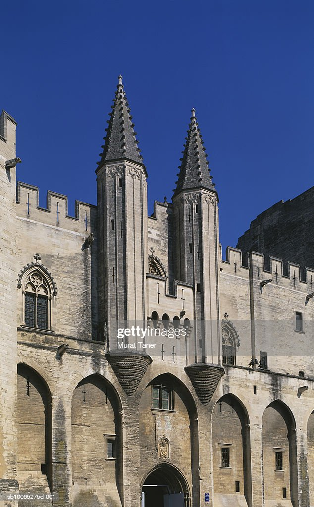 Palais du Papes, close-up : Foto stock