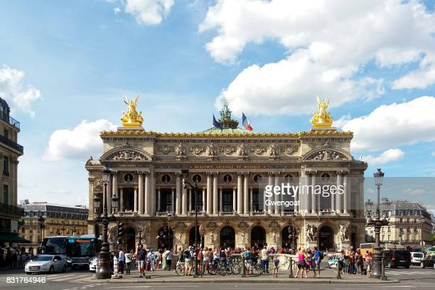 palais garnier in paris - dance troupe stock photos and pictures