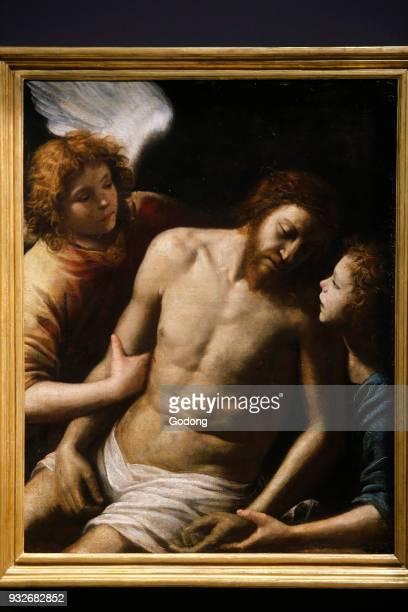 Palais Longchamp Marseille Fine Art museum Giuseppe Vermiglio Dead Christ with angels c1628 oil on canvas France
