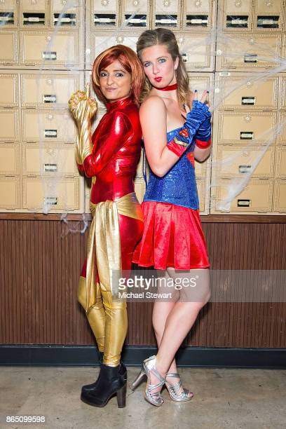 Palak Patel and Hallie Friedman attend the third annual Scaring Is Caring Halloween party at The Mailroom on October 21 2017 in New York City