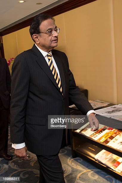 Palaniappan Chidambaram India's finance minister arrives for a media briefing in Hong Kong China on Tuesday Jan 22 2013 Chidambaram said that the...