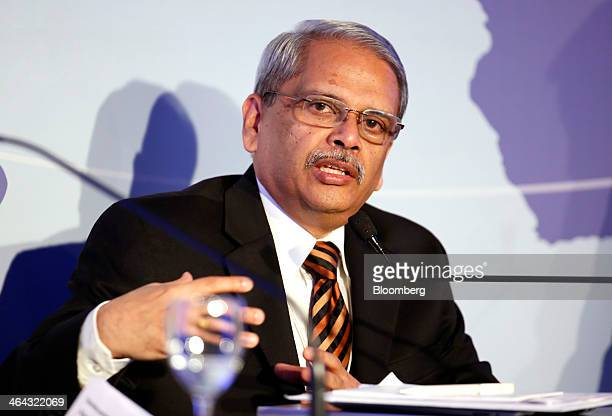 Palaniappan Chidambaram India's finance minister gestures during a session on the opening day of the World Economic Forum in Davos Switzerland on...