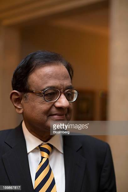 Palaniappan Chidambaram India's finance minister leaves a media briefing in Hong Kong China on Tuesday Jan 22 2013 Chidambaram said that the final...