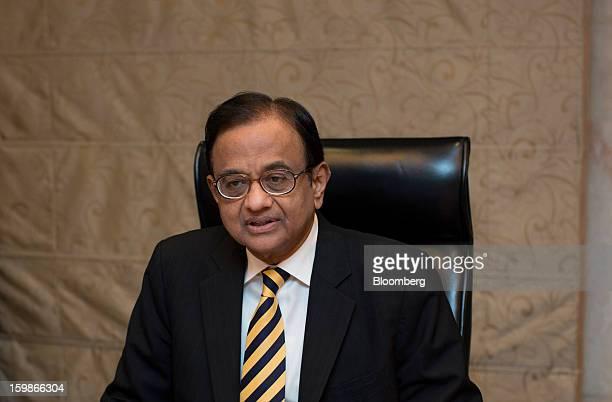 Palaniappan Chidambaram India's finance minister speaks at a media briefing in Hong Kong China on Tuesday Jan 22 2013 Chidambaram said that the final...