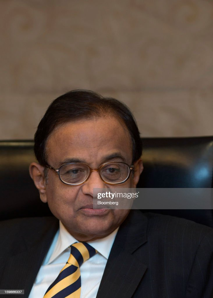 Palaniappan Chidambaram, India's finance minister, speaks at a media briefing in Hong Kong, China, on Tuesday, Jan. 22, 2013. Chidambaram said that the final call on interest rates rests with the Reserve Bank of India. Photographer: Jerome Favre/Bloomberg via Getty Images