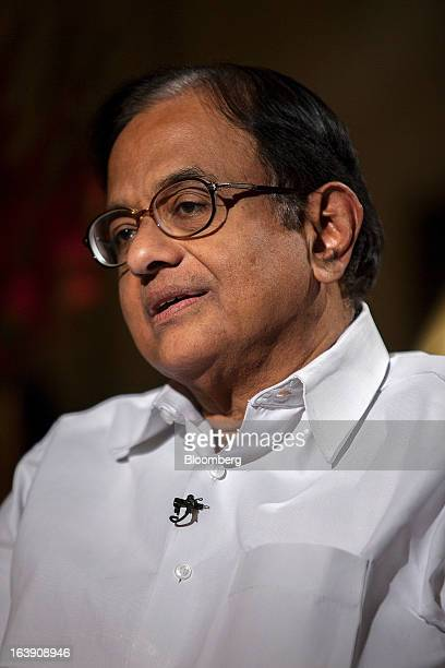 Palaniappan Chidambaram India's finance minister speaks during an interview in New Delhi India on Friday March 15 2013 Chidambaram said the nation...