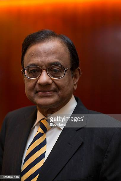 Palaniappan Chidambaram India's finance minister stands for a photograph after a media briefing in Hong Kong China on Tuesday Jan 22 2013 India's...