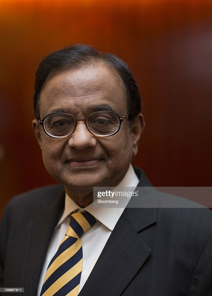 Palaniappan Chidambaram, India's finance minister, stands for a photograph after a media briefing in Hong Kong, China, on Tuesday, Jan. 22, 2013. India's government has taken corrective measures to curb its budget deficit and sees no case for a rating downgrade to junk, Chidambaram told investors in Hong Kong today. Photographer: Jerome Favre/Bloomberg via Getty Images