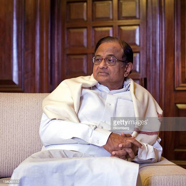 Palaniappan Chidambaram India's Home minister attends an interview in New Delhi India on Wednesday Feb 1 2012 India is winning command over...