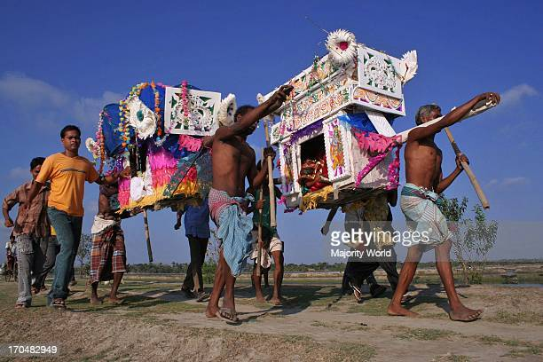 Palanquins are still used for carrying brides in remote Bangladesh In Mathbari a faroff village in Sundarbans some people still cling to palanquins...