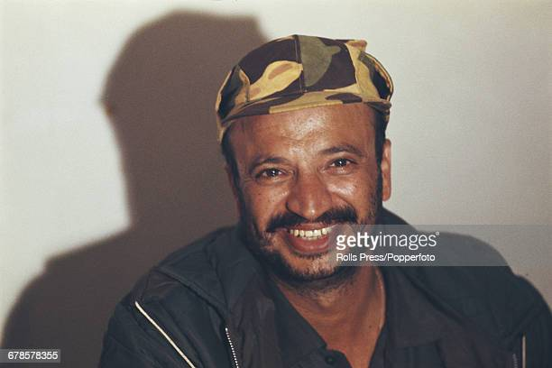 Palastinian leader and Chairman of the Palestine Liberation Organisation , Yasser Arafat pictured attending talks in Cairo, Egypt on 3rd November...
