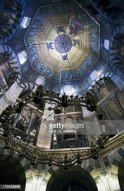 Palatine Chapel octagonal interior Aachen Cathedral RhinelandWestphalia Germany