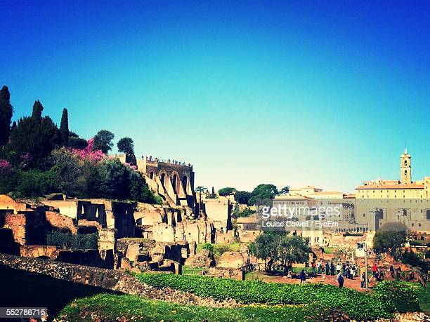 Palatine Hill Against Clear Blue Sky