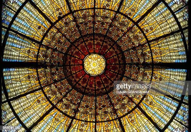 Palau de la Musica glass ceiling Barcelona Spain