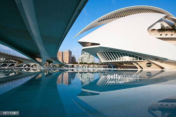 palau des les arts, in valencia, spain, europe - palau de les arts reina sofia stock-fotos und bilder