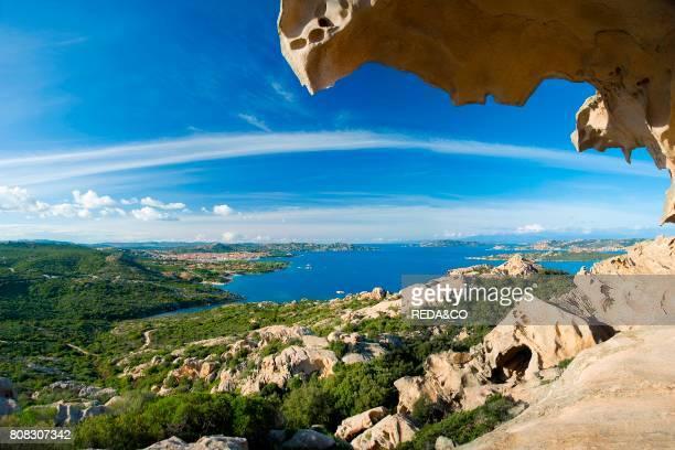 Palau the granite Bear Rock dominates Palau Bocche di Bonifacio La Maddalena Archipelago Sardinia Italy Europe