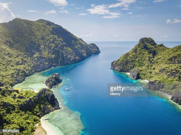 palawan tapiutan strait matinloc island  el nido philippines - lagoon stock pictures, royalty-free photos & images