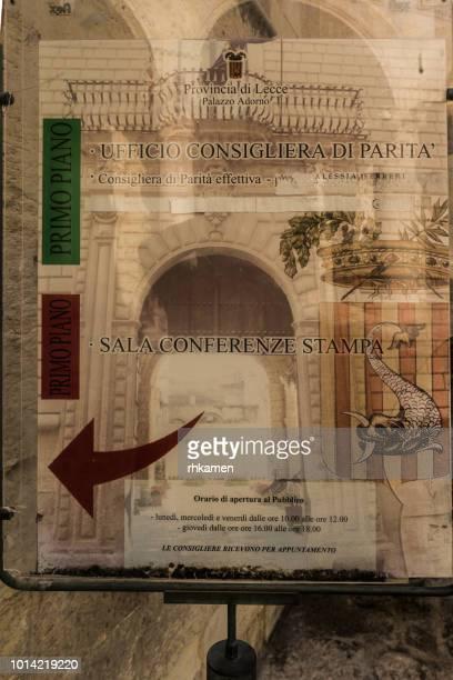 Palazza Adorno, Lecce, Salento, Apulia, Italy.