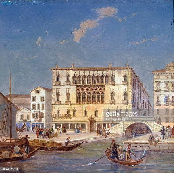 'Palazzo Bernardo' 19th century From a series of views of Venice The palace was built in the 1440s Found in the collection of the State Art Museum...