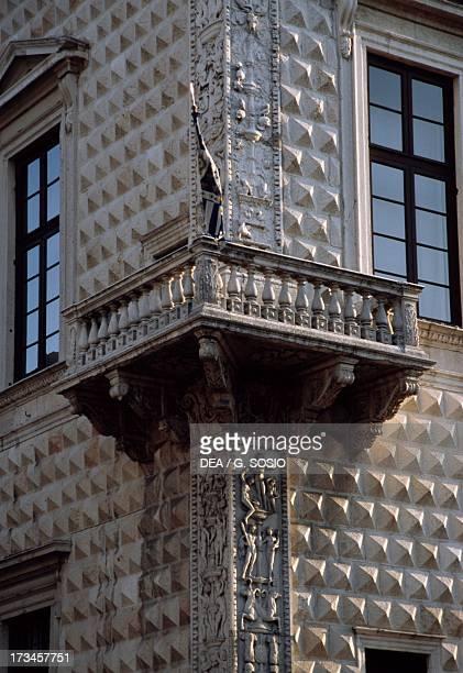 Palazzo dei Diamanti , design by Biagio Rossetti , Ferrara , Emilia-Romagna, Italy. Detail.