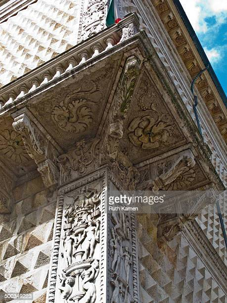 Palazzo dei Diamanti , Ferrara. Corner with balcony