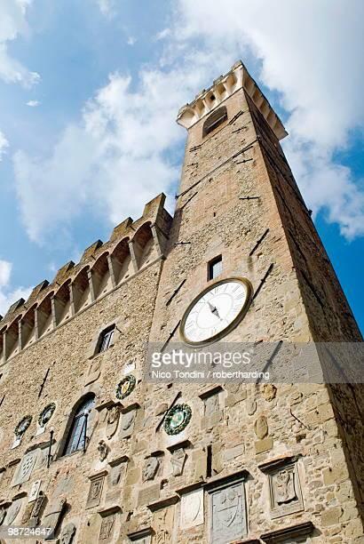 palazzo dei vicari, scarperia, florence, tuscany, italy, europe - scarperia e san piero stock pictures, royalty-free photos & images