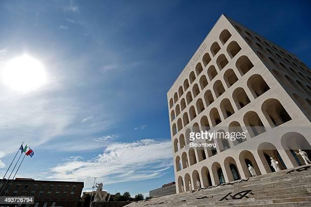 Palazzo della Civilta Italiana stands as Fendi SpA inaugurates the building as their new headquarters in Rome Italy on Thursday Oct 22 2015 Fendi one...