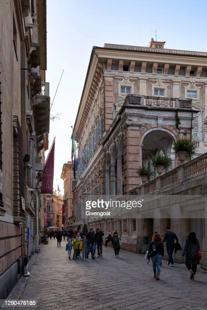 palazzo doria-tursi in genoa - gwengoat stock pictures, royalty-free photos & images