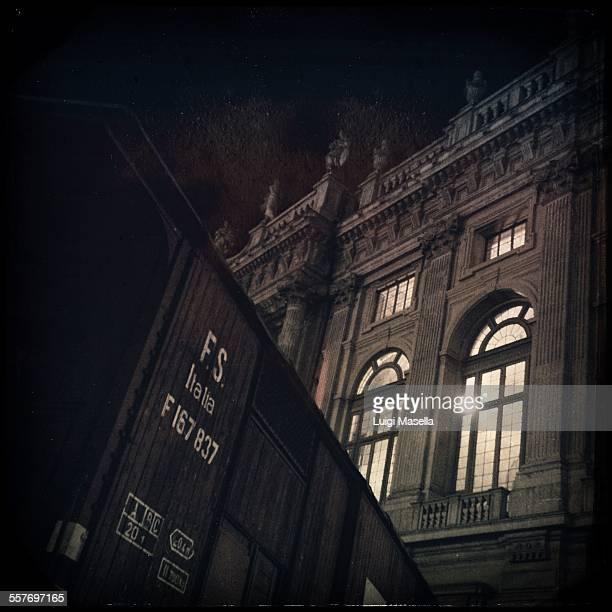 Palazzo Madama and the train of Primo Levi Turin Piedmont Italy
