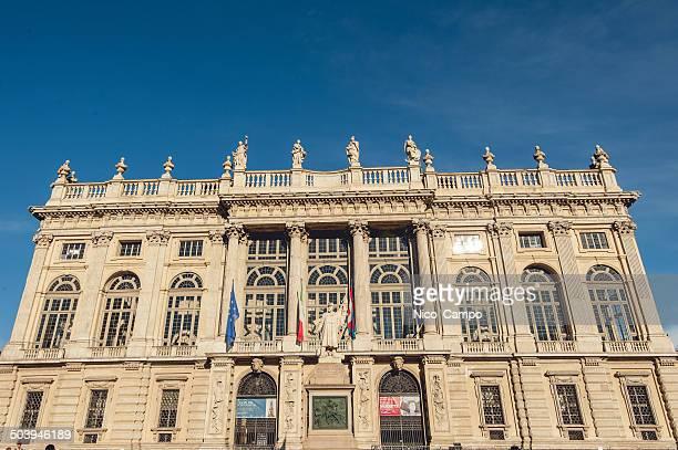palazzo madama e casaforte degli acaja - roma torino foto e immagini stock