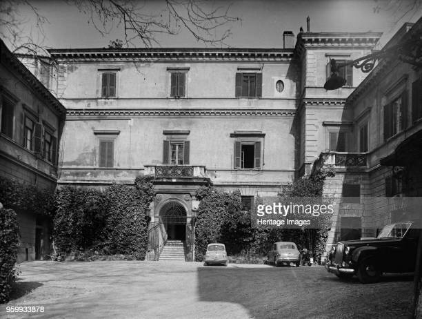 Palazzo Orsini residence of the British ambassador to the Holy See Rome Italy 1961 View of the front entrance to the building photographed for the...