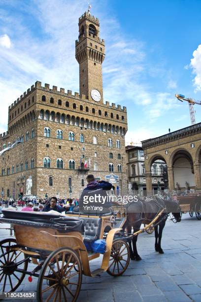 palazzo vecchio of piazza della signoria, the town hall of the city of florence, italy - florence italy stock pictures, royalty-free photos & images
