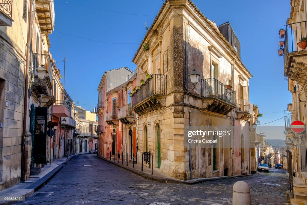 Palazzolo Acreide Old Town, Sicily, Italy : Stock Photo