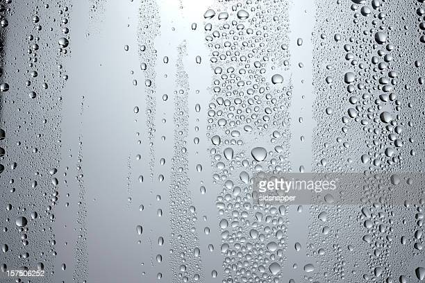 Pale condensation on a window