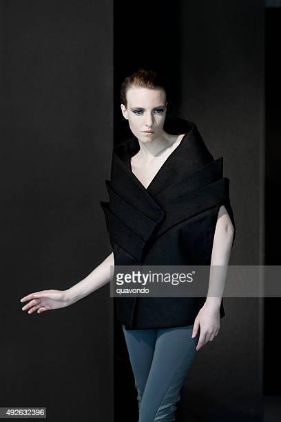 Pale fashion model