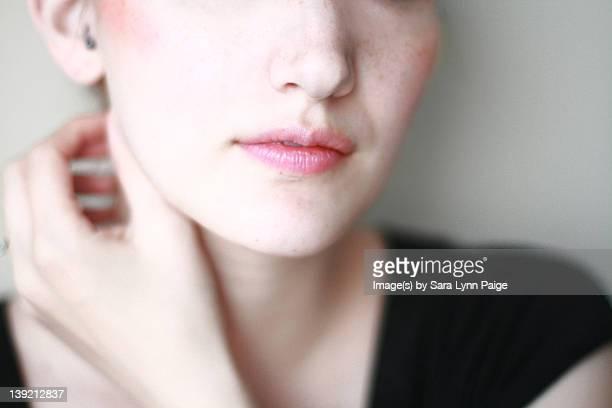 Pale freckled girl
