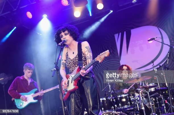 Pale Waves perform onstage during Pandora SXSW 2018 on March 15 2018 in Austin Texas
