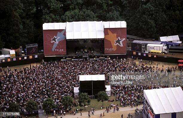 Paleo festival of Nyon Atmosphere around the scene in Nyon Switzerland in February 2002