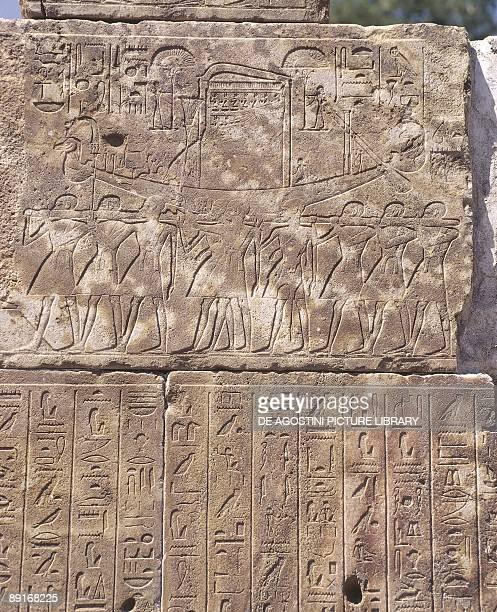Paleography Egypt Karnak Openair Museum of the Karnak Temple Hatshepsut's red chapel Relief detail