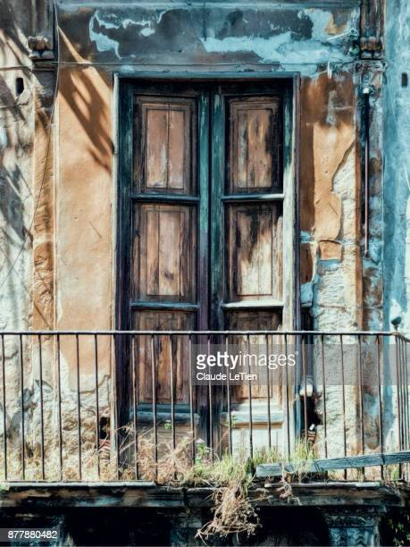palermo balcony 2 - palermo sicily stock photos and pictures