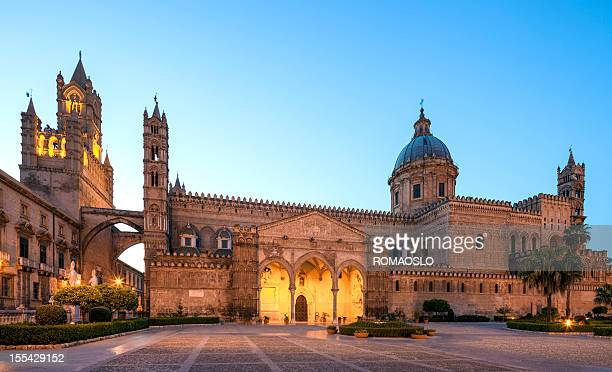 Palermo Cathedral by night, Sicily Italy